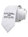 Love Begins With You and Me Printed White Necktie