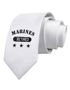 Retired Marines Printed White Necktie