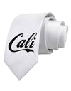 California Republic Design - Cali Printed White Necktie