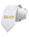 Save The Clock Tower Printed White Necktie