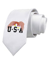 Bald Eagle USA Printed White Necktie