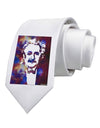 Cosmic Galaxy Einstein Printed White Necktie