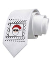 Cool Santa Christmas Sweater Printed White Necktie