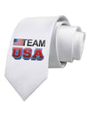 Sporty Team USA Printed White Necktie