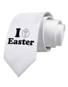 I Egg Cross Easter Design Printed White Necktie