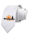 Morningwood Company Funny Printed White Necktie