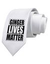 Ginger Lives Matter Printed White Necktie