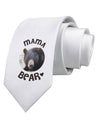 Black Bear - Mama Bear Printed White Necktie