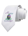 One Happy Easter Egg Printed White Necktie