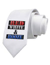 Red White & Booze Printed White Necktie