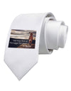 With They Find the Eggs - Easter Bunny Printed White Necktie