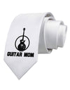 Guitar Mom - Mother's Day Design Printed White Necktie