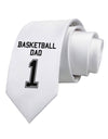Basketball Dad Jersey Printed White Necktie