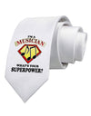 Musician - Superpower Printed White Necktie