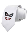 Lil Monster Mask Printed White Necktie