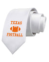 Texas Football Printed White Necktie