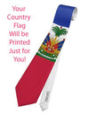 Country Flag AOP Printed All Over Print Tie