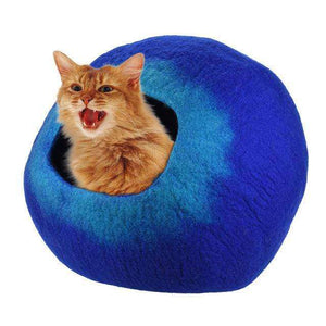 Soft Comfortable Pet Cat Cave Wool Bed - Joy Values