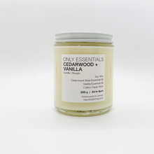 Load image into Gallery viewer, Cedarwood Vanilla Soy Wax Candle