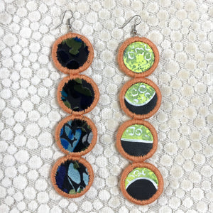 Many Moons Earrings- BLACKLIGHT