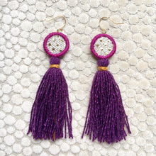 Load image into Gallery viewer, Eye tassel earrings