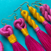 Load image into Gallery viewer, Pink TASSEL Earrings