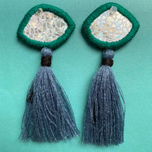 Load image into Gallery viewer, Embroidered Eye earrings