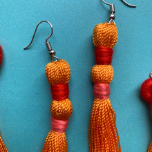 Load image into Gallery viewer, Orange TASSEL Earrings