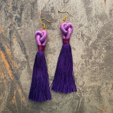 Load image into Gallery viewer, Knot Tassel Earring