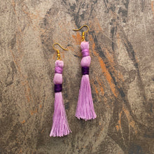 Load image into Gallery viewer, Double Pinch Tassel Earring