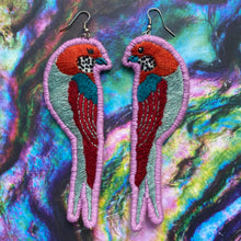 Load image into Gallery viewer, Embroidered Bird earrings
