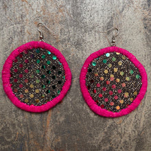 Load image into Gallery viewer, LARGE Fabric Earrings- MOLA