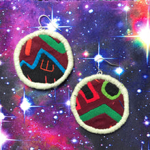 Load image into Gallery viewer, MEDIUM Fabric Circle Earrings