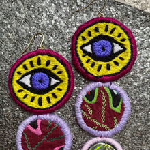 Load image into Gallery viewer, Embroidered Eye Earcandy