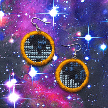Load image into Gallery viewer, SMALL Fabric Circle Earrings