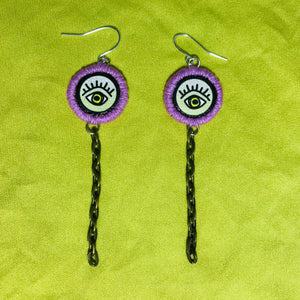Mini Eye + Chain Earring