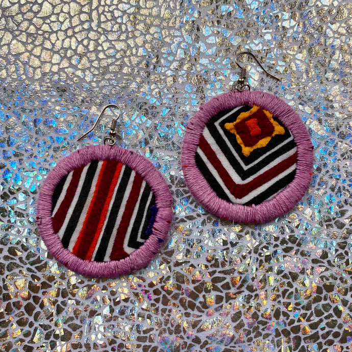 MEDIUM Fabric Earrings- MOLA