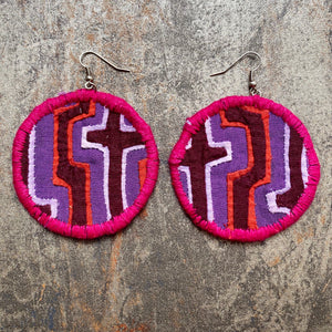 LARGE Fabric Earrings- MOLA