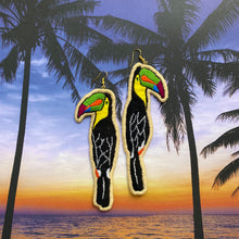 Load image into Gallery viewer, Toucan Embroidered bird Earrings