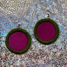 Load image into Gallery viewer, MEDIUM Fabric Earrings- MOLA