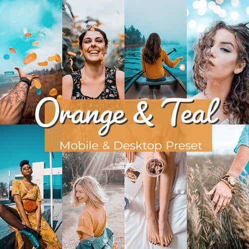 orange and teal lightroom Presets - is presets
