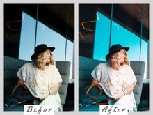 Load image into Gallery viewer, orange and teal lightroom Presets - is presets