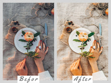 Load image into Gallery viewer, BLUSH 5 Lightroom Mobile Presets, Instagram Blogger Presets, Rose Gold Presets, Pink Peach Photography Preset, Summer Travel Presets