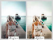 Load image into Gallery viewer, vBLUSHED Instagram Preset for Blogger, Pink preset Lightroom,Rose Gold Preset,Pink Instagram Feed, Preset Wanderlust,Mobile Lightroom Presets