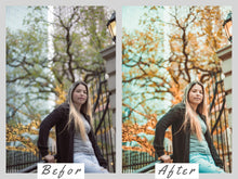 Load image into Gallery viewer, green presets mobile iphone and desktop lightroom presets