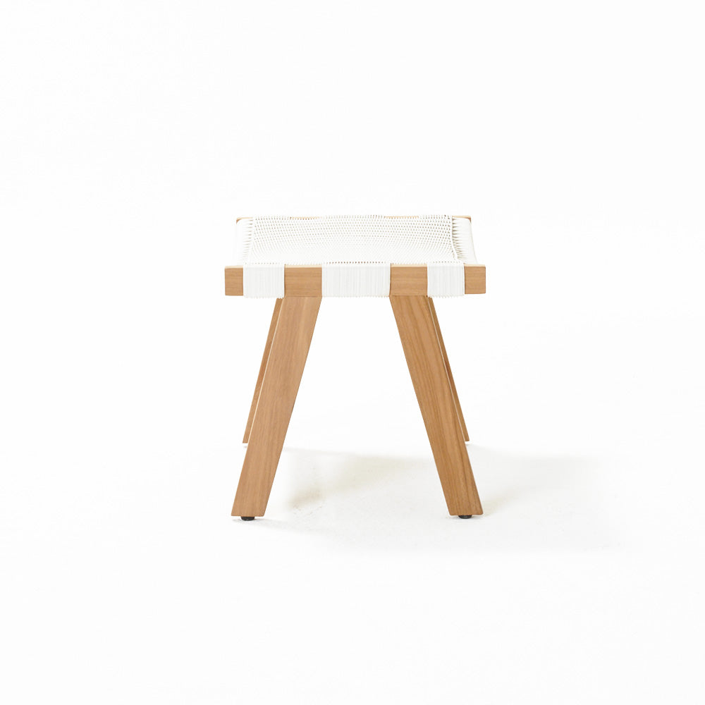 Jackson Footstool - White Wash