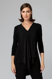 Layered and Angled Tunic 3/4 Sleeve. Style JR161066