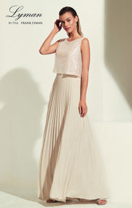 Sparkle Top with Ruffle Folded Skirt. Style FL208302