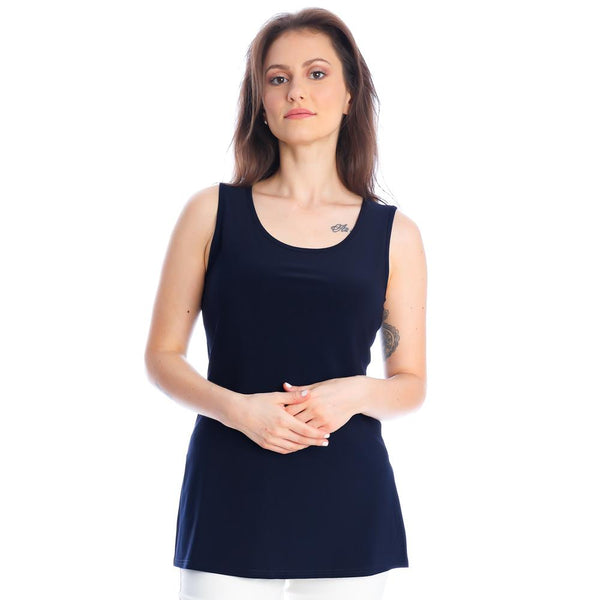 Long Tank with Side Slits. Style MT21S1049
