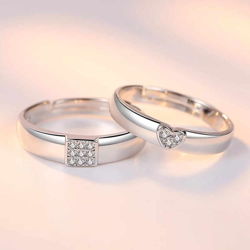 Heart Love Couple Rings
